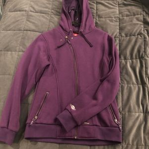 Purple snowboarding jacket